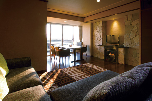 Western style room with private outside hot spring (corner deluxe)