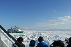 the Aurora ship passing through the ice