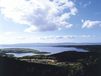 Lake Abashiri viewed from Mt.Tento