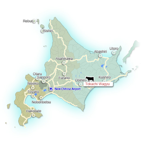 Tokachi Wagyu map